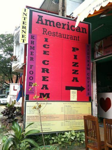 アメリカンレストラン、クメールフード、ベトナムコーヒー