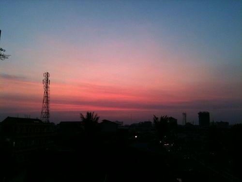 プノンペンの夕陽