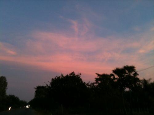 カンボジアの夕陽